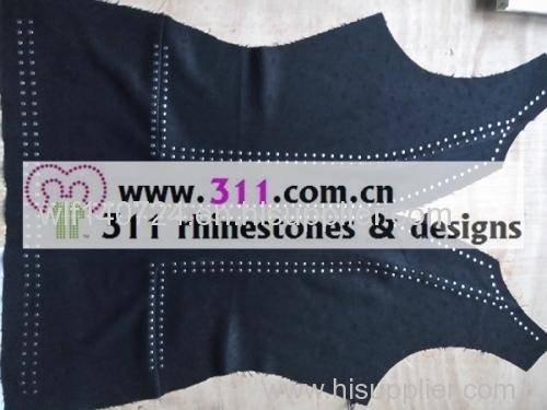 311-copper studs hot-fix heat transfer rhinestone motif design 1