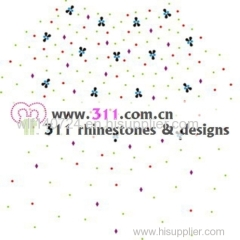 311-front-hot-fix heat transfer rhinestone motif design 1