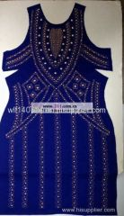 311-full body dress rhinestones rhinestuds nailheads motif design 1
