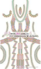311-full body dress rhinestones rhinestuds nailheads motif design 3
