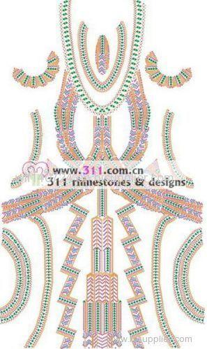 311-full body dress rhinestones rhinestuds nailheads motif design 3