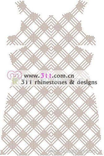 311-full body nailheads-hot-fix heat transfer rhinestone motif design 1