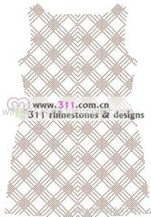 311-full body nailheads-hot-fix heat transfer rhinestone motif design 1