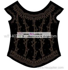 311-full body-hot-fix heat transfer rhinestone motif design 2