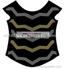 311-full body-hot-fix heat transfer rhinestone motif design 3