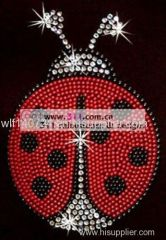 311-insects ladybug-hot-fix heat transfer rhinestone motif design 3