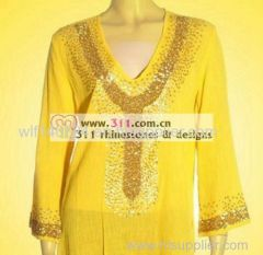 311-neckline fix heat transfer rhinestone motif design 3