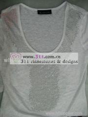 311-neckline heat transfer rhinestone motif design1