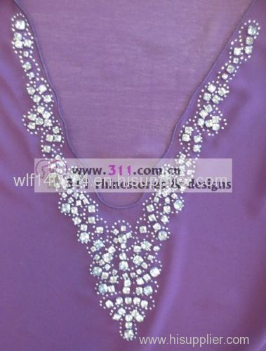311-neckline-hot-fix heat transfer rhinestone motif design1