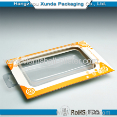 Mobile case clamshell packaging