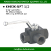 1/2 inch NPT female thread high pressure 3 way ball valve