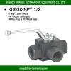 BK3-NPT1/2 DN 16 female thread high pressure 3 way ball valve