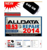 2014 newest ALLDATA10.53 car diagnostic software 10 in 1 1000GB hard disk