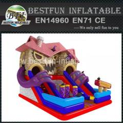 HAUNTED HOUSE SLIDE PUFFED