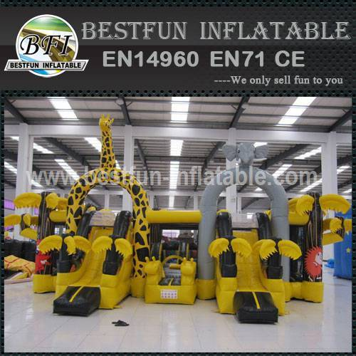 INFLATABLE PLAYGROUND YELLOW ZOO