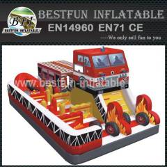 Inflatable firefighters theme playground