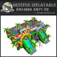 INFLATABLE PLAYGROUND GREEN ZOO