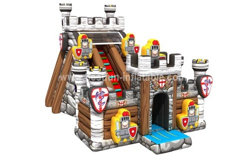 INFLATABLE MEDIEVAL FORTRESS PLAYGROUND