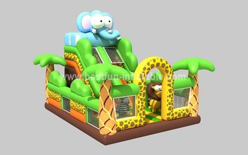 Savannah maxi zoo inflatable slide