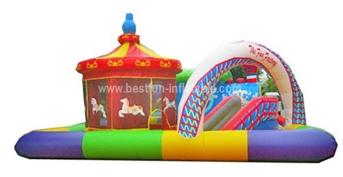 2014 hottest inflatable amusement park small carousel