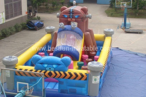 Alien robbot space inflatable playland