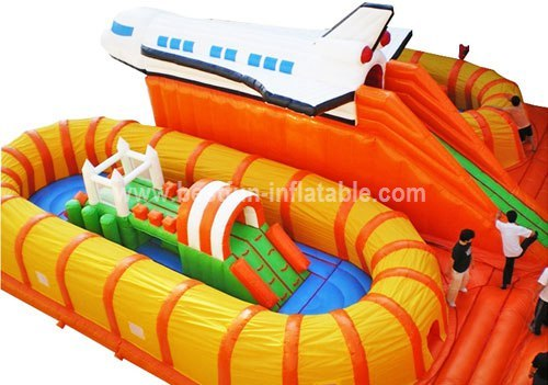 Commercial inflatable spaceship outdoor playground