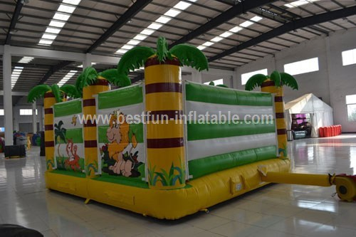 Inflatable forest jungle bouncer playground
