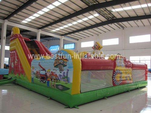 Little builder inflatable combo for amusement park