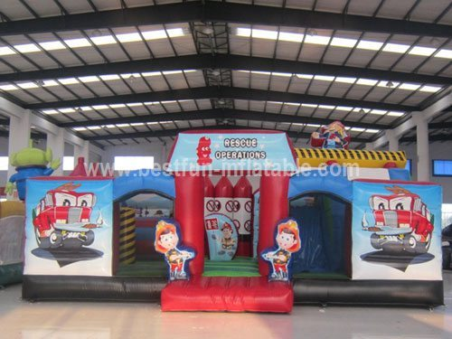 PVC Inflatable firefighters theme playground