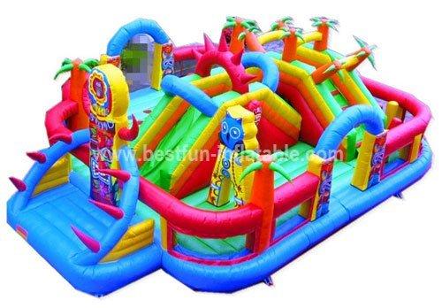 Tiki island inflatable amusement park