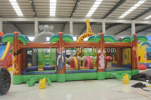 Zoo giant inflatable outdoor playground