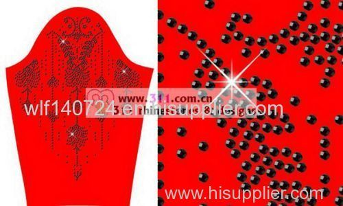 311 epoxy hot-fix heat transfer rhinestone motif design 2