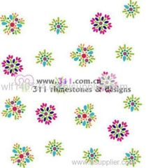 311-scattered studs-hot-fix heat transfer rhinestone motif design 2