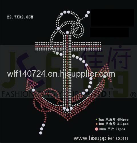311 pattern hot-fix heat transfer rhinestone motif design
