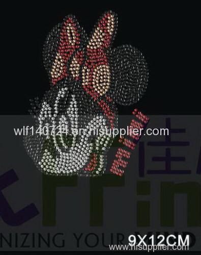 311 animalMickey Mouse hot-fix heat transfer rhinestone motif design