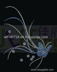 311Butterfly hot-fix heat transfer rhinestone motif design