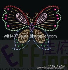 311 animalButterflyhot-fix heat transfer rhinestone motif design
