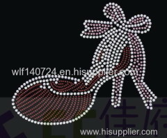 311Shoeshot-fix heat transfer rhinestone motif design