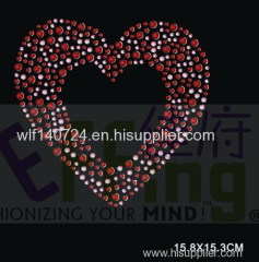 311heart hot-fix heat transfer rhinestone motif design