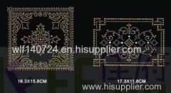 311Square Decoration maphot-fix heat transfer rhinestone motif design