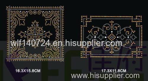 311Square Decoration maphot-fix heat transfer rhinestone motif design
