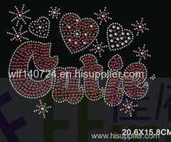 311Letterhot-fix heat transfer rhinestone motif design