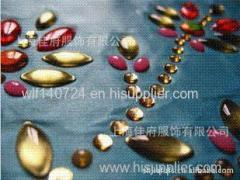 Imported resin drilling ship shaped Marquise hot-fix heat transfer rhinestone motif design