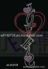 311love hot-fix heat transfer rhinestone motif design