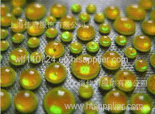 Semicircular resin drilling hot chip lemon yellow luminous resin drill digital map