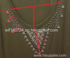 triangle necklinehot-fix heat transfer rhinestone motif design