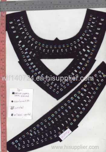 The collar collar piece collar scalding hot drilling map manual nail bead