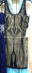 311 Dress hot-fix heat transfer rhinestone motif design