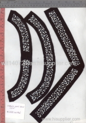 311 pearl hot-fix heat transfer rhinestone motif design