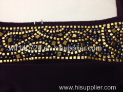 311gold hot-fix heat transfer rhinestone motif design